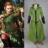 2016 Brand New Femmes Tauriel Outfit Superhero Costumes Halloween Custom Made Film Le Hobbit Robe Cosplay Costumes