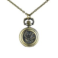 Wholesale Digital Analog Design - New Necklace hot sale Antique style lovely key design pocket watch