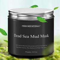 mascara de paquete natural al por mayor-Máscara de barro del Mar Muerto Anti acné Limpiador de piel Profundo Reductor de poros Desintoxicante Mineral-Infundido Natural Con Vitanins para promover youthf3006012