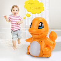 New RC Dinosaur Toys Infrared Induction Jouet de dinosaures avec LED Tail Batterie rechargeable Télécommande Charmander Children Kids Xmas Gift