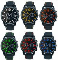 Wholesale aviator quartz sports resale online - Mix Colors Men Causal SPORT Military Pilot Aviator Army Racing Silicone GT Watch RW016