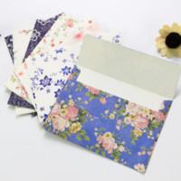 Wholesale Paper Letterhead - Wholesale- 10Pcs Beautiful exquisite flower envelope letterhead cherry roses letter paper fresh and elegant floral envelope love letters