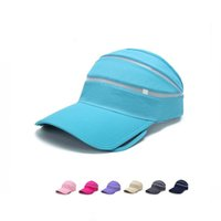 Wholesale Retractable Shades - Free shipping Sweep retractable eaves empty cap male ladies outdoor beach sun hat summer shade hat EMB144