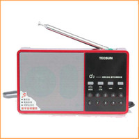Wholesale Music Song Mp3 - Wholesale-Brand New High Sendio Tecsun D3 FM Stereo Radio Music MP3 Digital Song Selection TF Card Speaker With Built-In Speaker .