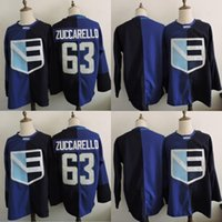 Estera Europea Baratos-WCH Team Europa Hockey Jersey 63 Mats Zuccarello 2016 World Cup Juegos Olímpicos Jersey Blank Blue 100% Stitch Hockey Jerseys
