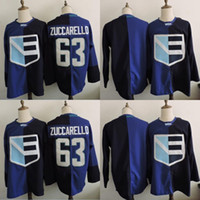 Wholesale World Games - WCH Team Europe Hockey Jersey 63 Mats Zuccarello 2016 World Cup Olympic Games Jersey Blank Blue 100% Stitched Hockey Jerseys