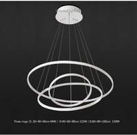 Wholesale Acrylic Led Ceiling Light - Modern pendant lights for living room dining room 3 2 1 Circle Rings acrylic aluminum body LED Lighting ceiling Lamp fixtures