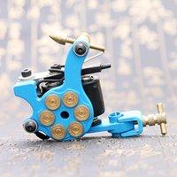Wholesale Tattoo Machine Coil Motor - 10 Wrap Coils Blue Tattoo Machine Shader & Liner Alloy Rotary Assorted Tatoo Motor Gun Instrument Permanent Makeup Tools TM2383