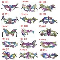Wholesale Princess Masquerade Masks - 15 Designs Lace Halloween Party Mask Swan Princess Half Mask Venetian Unisex Masquerade Venetian Mask Mardi Gras Party Masks CCA6992 300pcs