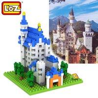 Wholesale Building Blocks Castle - Loz Diamond Blocks World Famous Architecture New Swan Stone Castle Mini 3D Model Building Blocks DIY Assembly Bricks Toys
