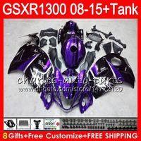 Wholesale Hayabusa Yellow - 8Gifts 23Colors For SUZUKI Hayabusa GSXR1300 08 09 10 11 12 13 14 15 19HM21 purple black GSX R1300 GSXR 1300 2008 2009 2010 2011 Fairing Kit