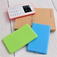 telefones celulares para crianças pequenas venda por atacado-Mais barato Pequeno Mini Cartão de Bolso Azul AIEK M5 Celular Novo telefone Despertador simples cartão para criança