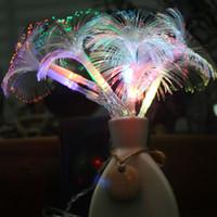 UK led fiber tree - Wholesale-Color Fiber led string light unique 250CM 10leds lighting powered by AA battery holiday wedding party chrismas tree decor KM