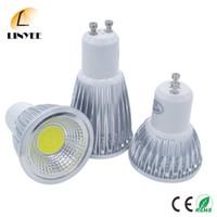 Wholesale 3w Cob Led - Super Bright GU10 LED Bulb 3W 5W 7W LED lamp light GU10 COB Dimmable GU 10 led Spotlight Warm Cold White Free shipping