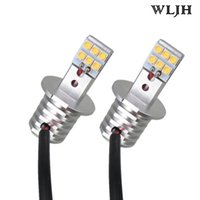 WLJH H3 Car Led Light 60W Auto Lumières extérieures Lampes de course DRL Feux de circulation diurne LED Fog Light Bulb12V 24V 1000LM