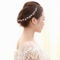 Wholesale Top Quality Crystal Bridal Headband Silver Color Rhinestone Flower Tie Headchain Wedding Hair Jewelry Accessories Party Gift