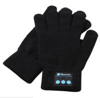 Wholesale Microphone Talk - Bluetooth Gloves Built-In Microphone Women Men Winter Knit Warm Mittens Call Talking &Touch Screen Gloves