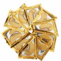 máscaras venda por atacado-Atacado-Gold Crystal Collagen Sleeping Eye Máscara Hotsale Eye Patches Maas 100pcs = 50 pacote de linhas finas Face Care Cuidados com a pele