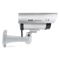 CA-11A Nice Security Silver False Dummy Camera CCTV Outdoor Camera CCD Red LED Light Falso Nuovo Dummy Camera indoor o outdoor AT