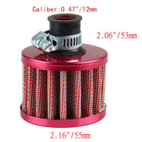 Wholesale Crankcase Filter - 12mm Red Car Cone Cold Air Intake Filter Turbo Vent Crankcase Breather EE support