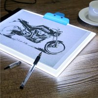 Wholesale Led Trace A4 - fashion wholesale retail newest 0.47mm Ultrathin A4 LED Light Pad Copy Pad Tattoo Drawing Tablet LED Tracing Painting Board