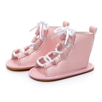 Wholesale Toddler High Fashion Boots - Wholesale- 2017 New High Quality Nubuck Leather Baby Summer boots fashion Roman girls kids shoes toddler baby girl moccasins shoes