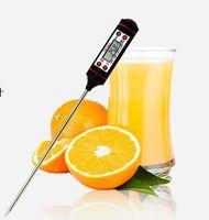 dijital anlık okuma termometreleri toptan satış-Yeni Katlanabilir Probe Dijital Gıda Pişirme Termometre Anında Oku için Et Termometre Mutfak BARBEKÜ Izgara Içen