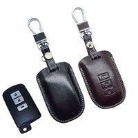 Wholesale Camry Body - Leather Car key Fob Case Cover for Toyota Camry 2012 2.5v 2.5g 2.5s 2013 Camry Smart Key Holder Bag Keychain Auto Accessories