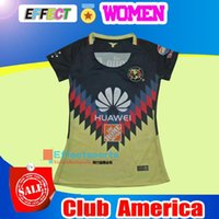 Wholesale Xl Girls - NEW 17 18 LIGA MX Mexico Club America Women Soccer Jerseys 2017 2018 PERALTA SAMBUEZA Camiseta de futbo Girl football shirts Size XL
