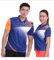 Wholesale Butterfly Table Tennis T Shirts - New Sportswear Sweat Drought Fast breathable badminton shirt   women's   men table tennis Ping pong team training game T Shir