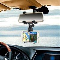 cep telefonları için araba beşiği toptan satış-Yeni Araba Dikiz Aynası Montaj Tutucu Cep Telefonu GPS Için Cradle Standı