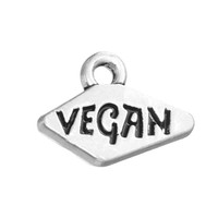 Wholesale Word Stamped Wholesale Charms - Best Selling Rhodium Plated Jewelry Words Tetragonum Vegan Stamped Charm Pendant For DIY Findings