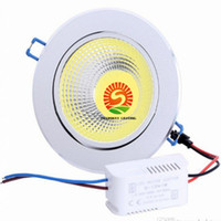 30pcs / lot Dimmable COB Led Downlights 9W 12W 15W conduit encastré plafond 120 angle AC110-240V + CE ROHS UL