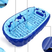 Wholesale Inflatable Toys For Sale Wholesale - Kids Cartoon Bathing Tub Baby Inflatable Swimming Pool for Boys Girls Portable Home Outdoor Swim Toys Summer Fashion Hot Sale