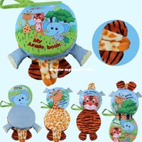 Wholesale Puppets Books - Animal 3D Multi-function infant Early Development Toy Hand Puppets Cloth Book Farms Forests Animal WJ319