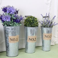 Wholesale Plant Technology - Tin Technology Flowerpot High Quality Not Easily Deformed Storage Bucket Three Sizes Vintage Rustic Nostalgia Hot Sell 12 8wx3 R