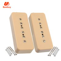 Wholesale Ivory Bars - Ivory P90 Electric guitar Soapbar Single Coil Pickups P 90 Neck Pickup and Bridge Pickup Soap bar Pickups