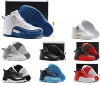 Wholesale Lace Shoes For Babys - Sale Cheap Hot Air Retro 12 Kids basketball shoes for Boys Girls sneakers Children Babys 12s running shoes Size 11C-3Y