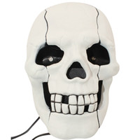 Wholesale Skull Shape Telephone - Wholesale-Free shipping 3Pieces Hot Selling Fearful Skull Shape Novelty Telephone Skull Flashing Phone Skull Phone