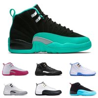 Chaussures De Tennis Orange Bon Marché Pas Cher-2017 air retro 12 XII chaussures de basket-ball ovo blanc Grippe GS Barons loup gris taxi playoffs gamma french blue sneaker cheap wholesale