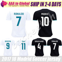 Wholesale Shirt Ronaldo - Reals Madrid jersey 2018 Ronaldo Soccer jersey MODRIC BALE KROOS ISCO BENZEMA football shirts Camisa ASENSIO jersey