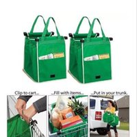 Wholesale New Grab Bag Reusable Ecofriendly Shopping Bags That Clips To Your Cart Foldable Shopping Bags Reusable Eco Shopping Tote CCA6277