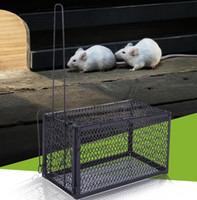 trampa de jaula al por mayor-Divertido Roedor Animal Ratón Humano Trampa Viva Hamster Jaula Ratones Rata Control Cebo Cebo Control Plagas Herramientas