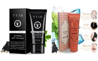 Wholesale Black Mud Dhl - TYJR Black Mask Deep Cleansing Purifying Peel Off Face Skin Care Oil Control Pore Cleaner Remover Blackhead Suction Facial Masks 50g DHL