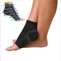 Wholesale Women S Socks Spandex - S M L XL Men Women Running Cycle Basketball Sports Outdoor Foot Angel Anti Fatigue Compression Foot Sleeve Socks