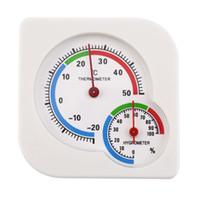 termômetro molhado venda por atacado-MIni Indoor Ao Ar Livre Wet Higrômetro Umidade Medidor de Temperatura Termômetro Oferta Stock
