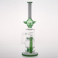 pack safe - Green Monster Glass Bong with Cone Piece Water Bubber Smoking Pipe Turntable Percolato Ash Catcher Effect Smocking Banger Safe Packing