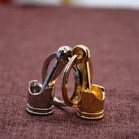 Wholesale New Models Rings - 2017 New Hot Sale 2016 Fashion Engine Piston Keychain Polished Chrome Creative Hot Auto Parts Model Key Chain Ring Key Fob Keyring