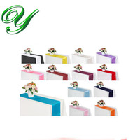 Wholesale Satin Overlays   Satin Table Runner Skirt Wedding Party Christmas  Decoration Ornament Chair Covers Sashes