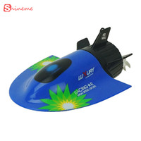 Wholesale Toy Submarines Radio Control - Wholesale- kids toys remote control boat Speed radio electric mini tourist rc submarine create racing boats for children gifts